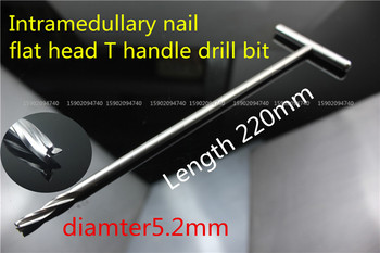 medical orthopedic instrument Retrograde reconstruction femur tibia PFNA Intramedullary nail T handle drill bit flat head 5.2mm