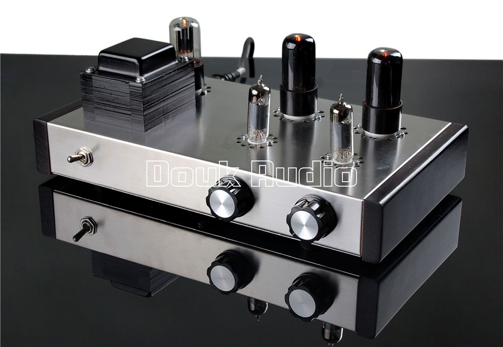 Douk Audio Pure Handmade 6J4 Push 6P6P Valve Tube Pre-Amplifier Stereo HiFi Class A 4-Inputs Tube Amplifier direct manufacturers 6j4 6p6p amps preamp tubes diy vacuum tube pre amp hifi audio preamplifier