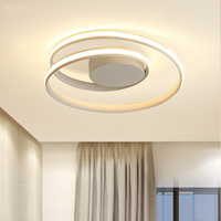 Modern Ceiling Lights Ring LED Lamp For Living Room Bedroom White black color surface mounted Ceiling Lamp Deco AC85 265V