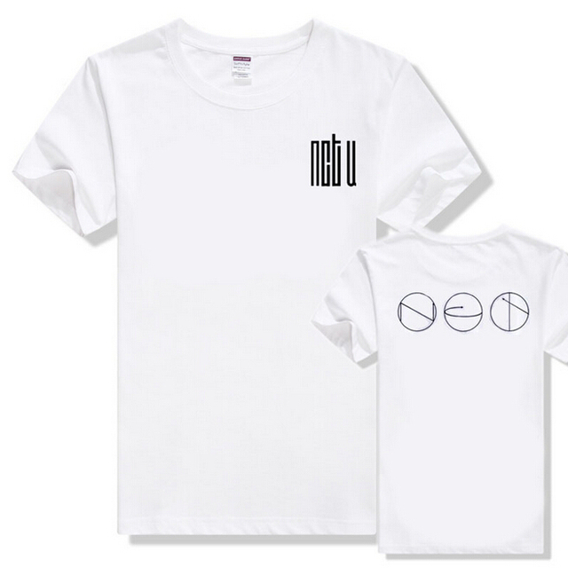 New arrived NCT U made in korean cotton white T shirt loose summer short sleeves tee camiseta