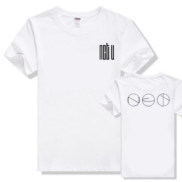 Nuevo llegado NCT U hecho en corea de algodón blanco T camisa suelta de verano de manga corta camiseta camiseta