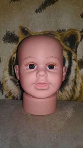 Cammitever 37cm bebê criança miúdo manequim cabeça modelo para chapéus bonés perucas óculos de sol mostrar exibição