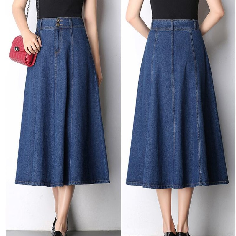 2017 autumn and winter new denim skirt large
