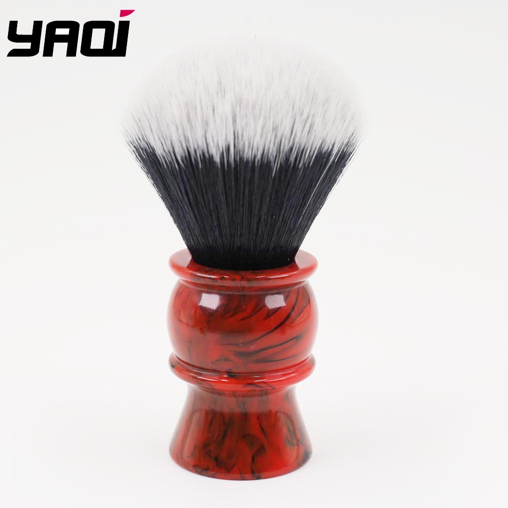 24mm Men's Shaving Brush with Resin Handle Synthetic Hair Good Tuxedo Knot