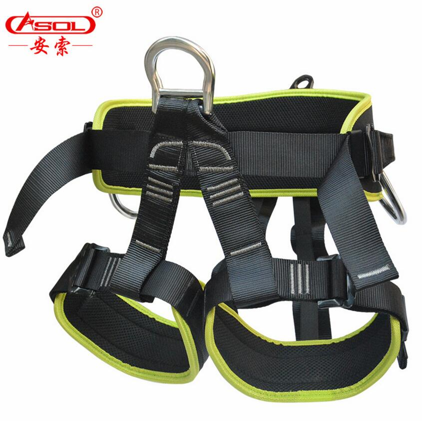 Brand ASOL Half Body Rock Climbing Safety Belts Hiking Camping belt Mountaineer escalade Equipment high altitude safe belt