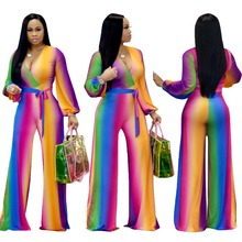 2018 new african print elastic bazin baggy pants rock style dashiki famous jampsuit for lady winter clothes
