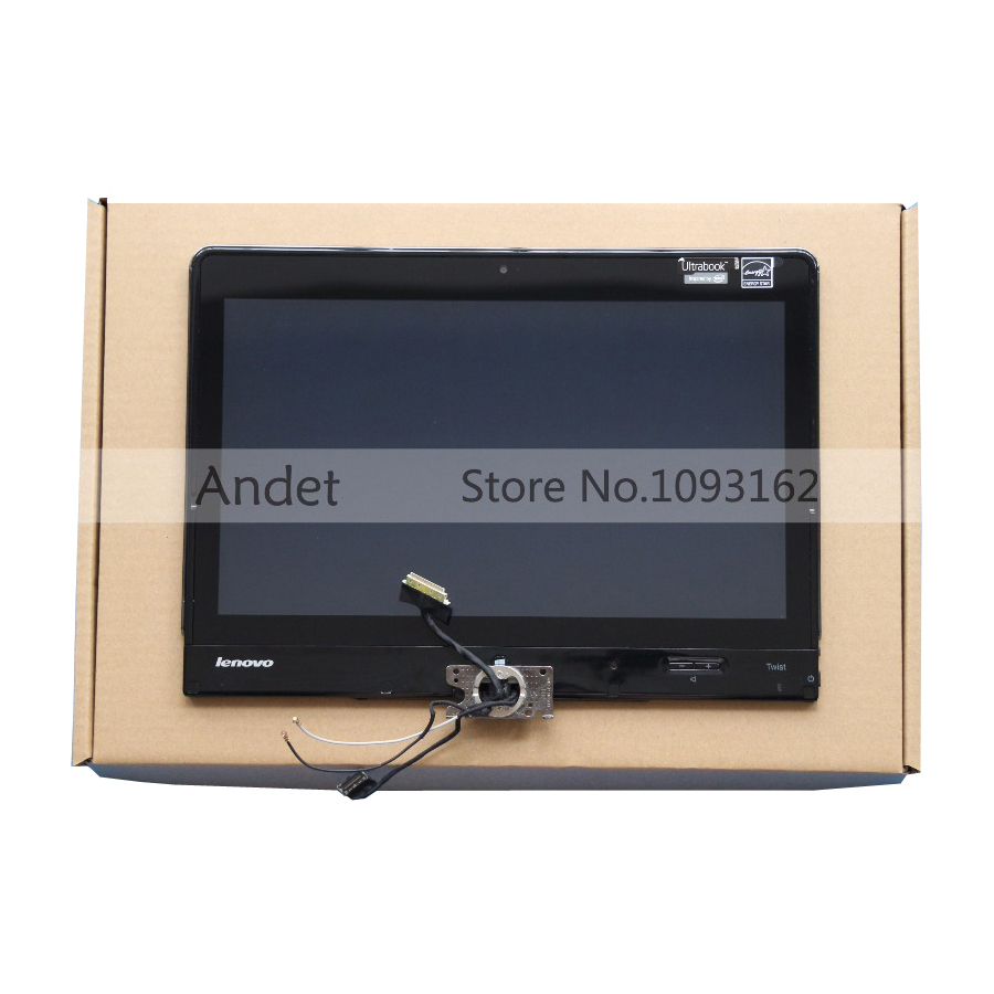 12.5 LCD Laptop Touch Screen Panel With Lcd Back Rear Cover Hinge Cable For ThinkPad Twist S230U LP125WH2 (SL)(T1) srjtek 8 for huawei mediapad t1 8 0 pro 4g t1 821l t1 821w t1 823l t1 821 n080icp g01 lcd display touch screen panel assembly