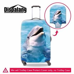 Чехлы для багажа с принтом животных дельфинов, эластичный полиэстеровый Чехол для багажа для женщин, 3D чехол для багажа для путешествий