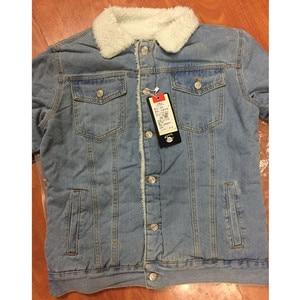 Image 5 - Men Jacket and Coat Trendy Warm Fleece Thick Denim Jacket 2020 Winter Fashion Mens Jean Jacket Outwear Male Cowboy Plus Size 6XL