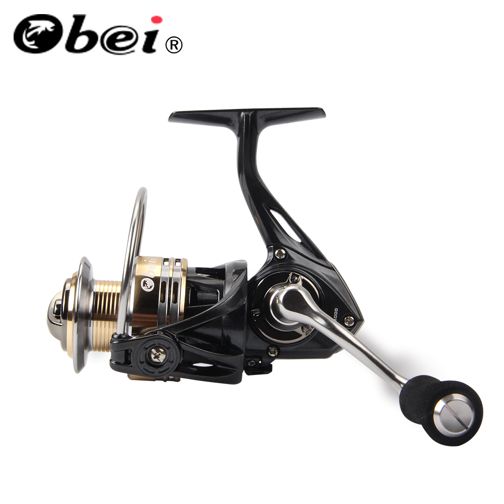 OBEI SR2000 Spinning Fishing Reel 7 + 1BB Bearing Balls 2000 Series Metal Coil Spinning Reel Boat Rock Fishing Wheel