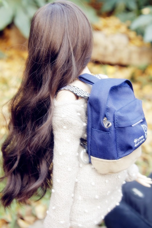 Multicolor Schoolbag Backpack For BJD 1/3 1/4 DD Doll  SD MSD Accessories AC10 fashion blue overcoat for bjd 1 4 msd 1 3 uncle sd17 bjd sd dd mdd doll clothes accessories