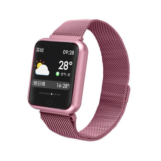P68 Smart Bracelet Multi Sport Wristband IP68 Waterproof Activity Fitness Tracker Heart Rate Watch Men Women