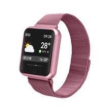 P68 inteligentna bransoletka multi sport nadgarstek IP68 wodoodporny monitor aktywności fizycznej zegarek mierzący uderzenia serca mężczyźni kobiety