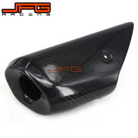 Motorcycle Carbon Fiber Muffler Cover Exhaust Pipe Cover Heat Shield For YAMAHA MT07 FZ07 MT 07