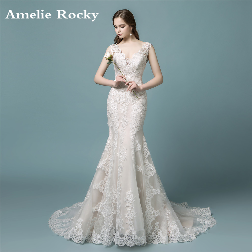 Vestidos De Novia 2019 Bridal Gowns Vintage Sexy Mermaid Wedding Dresses Boho Lace Dress Robe Mariee: Bridal Lace Wedding Dress At Reisefeber.org