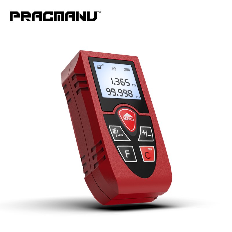 Medidor de distância a laser 40 PRACMANU M 60 M 80 M 100 M trena a laser rangefinder range finder fita construir medida dispositivo governante ferramenta de teste