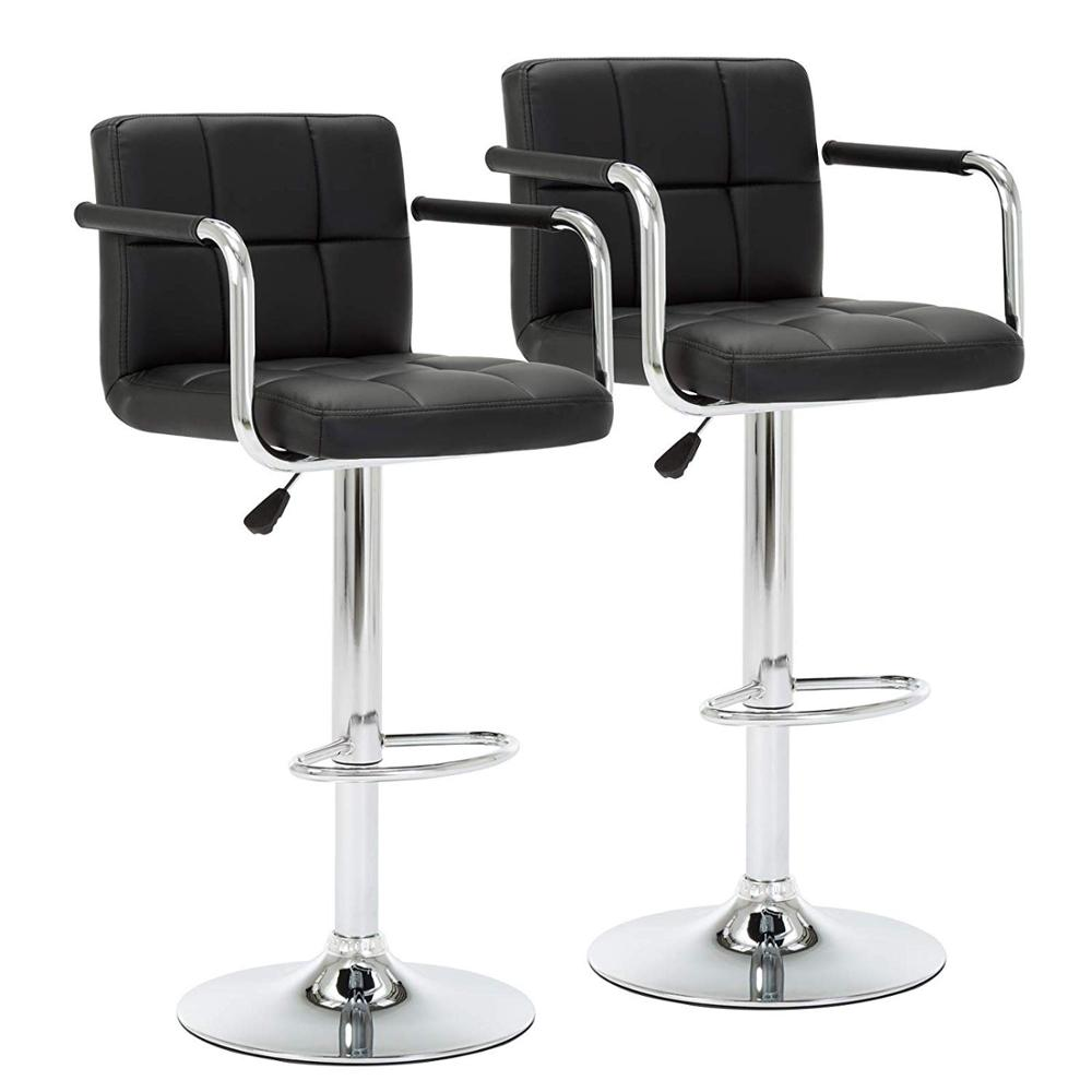 Marvelous Bar Chair Cuban Bar Stools Counter Stools With Arms Set Of 2 Modern Swivel Kitchen Breakfast Chair With Backs And Footrest De Inzonedesignstudio Interior Chair Design Inzonedesignstudiocom