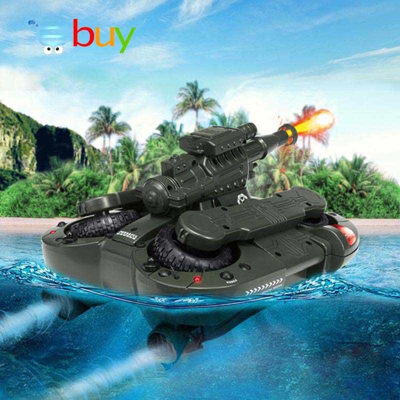 กองทัพสะเทินน้ำสะเทินบก RC ถังของเล่นอิเล็กทรอนิกส์รีโมทคอนโทรลรถสำหรับของขวัญเด็ก Air Soft BB Bullet Water Spraying ยิงเป้าหมาย