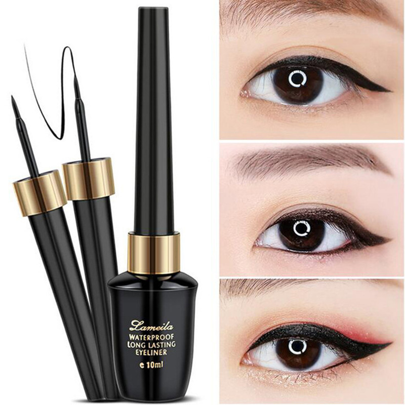 Brand New Beauty Makeup Cosmetic Black Long-lasting Waterproof Eyeliner Liquid Eye Liner Pen Pencil Makeup Beauty Tool Set