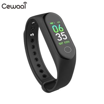Cewaal Smart Bracelet Curved Screen 0.96inch USB Charging Heart Rate Monitor Step Counter Waterproof Multifunction