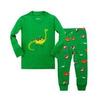 PJ11 Baby Boy Pajamas Cartoon Sleepwear Round Neck Long Sleeve Pijamas Para As Mulheres Natal Honden