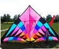 Envío de la alta calidad 3.7 m arco iris grande tela de nylon ripstop delta kite kite con la línea de control fácil volar cometas weifang