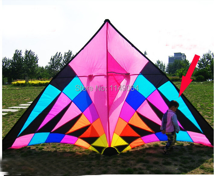 free shipping high quality 3.7m large rainbow delta kite with kite line easy control ripstop nylon fabric kite flying weifang free shipping high quality ink cartridge compatible for hp835 836 ip1188 large capacity