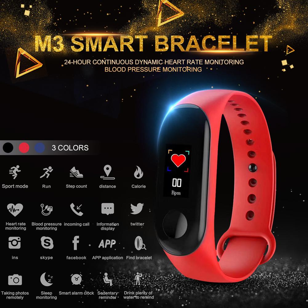 Smart Bracelet M3 Wristband For IPhone With Heart Rate Function Waterproof Touch Screen Bluetooth Control Fitness Pedometer