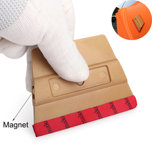 Foshio nenhum risco microfibra feltro ímã rodo raspador de fibra carbono filme vinil envoltório do carro magnético janela matiz ferramenta