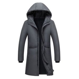Image 2 - Russia 90% piume danatra bianca giù lungo giacche degli uomini di Inverno lungo parka Impermeabile antivento con cappuccio del cappotto maschile di Alta qualità addensare cappotti
