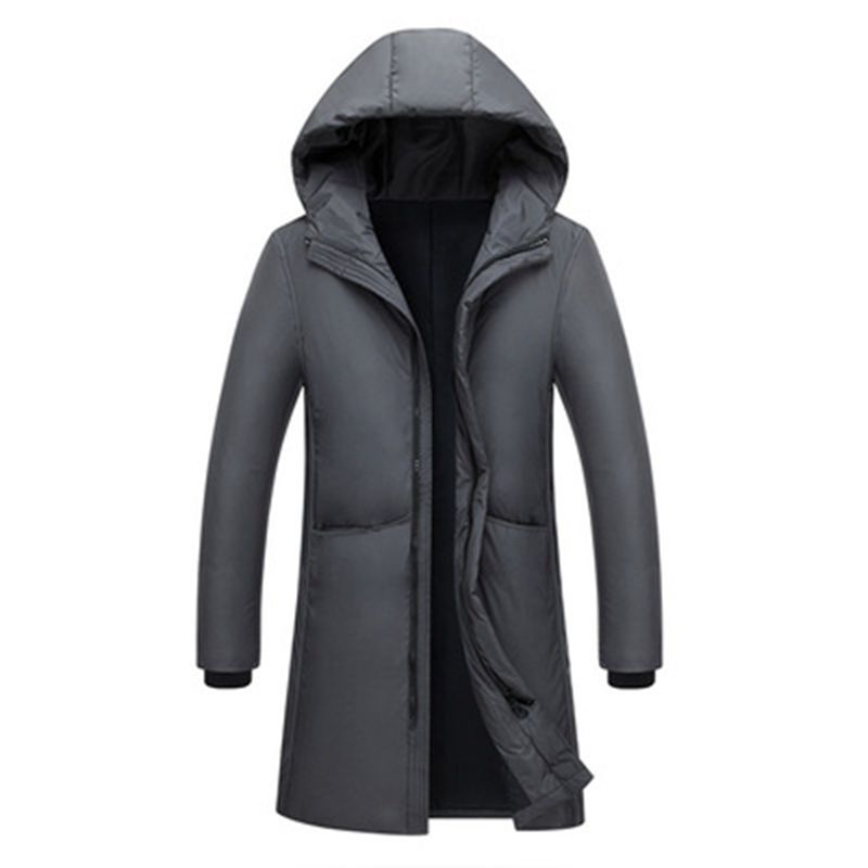 Image 2 - Russia 90% white duck down long jackets men Winter long parkas Waterproof windproof hooded coat male High quality thicken coats-in Down Jackets from Men's Clothing