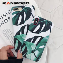 Ultra Thin Summer Plants Banana Leaves green Phone Cases For iphone X 7 7 Plus 6 6S Plus 8 8 Plus Cool Hard PC Back Cover Shell(China)