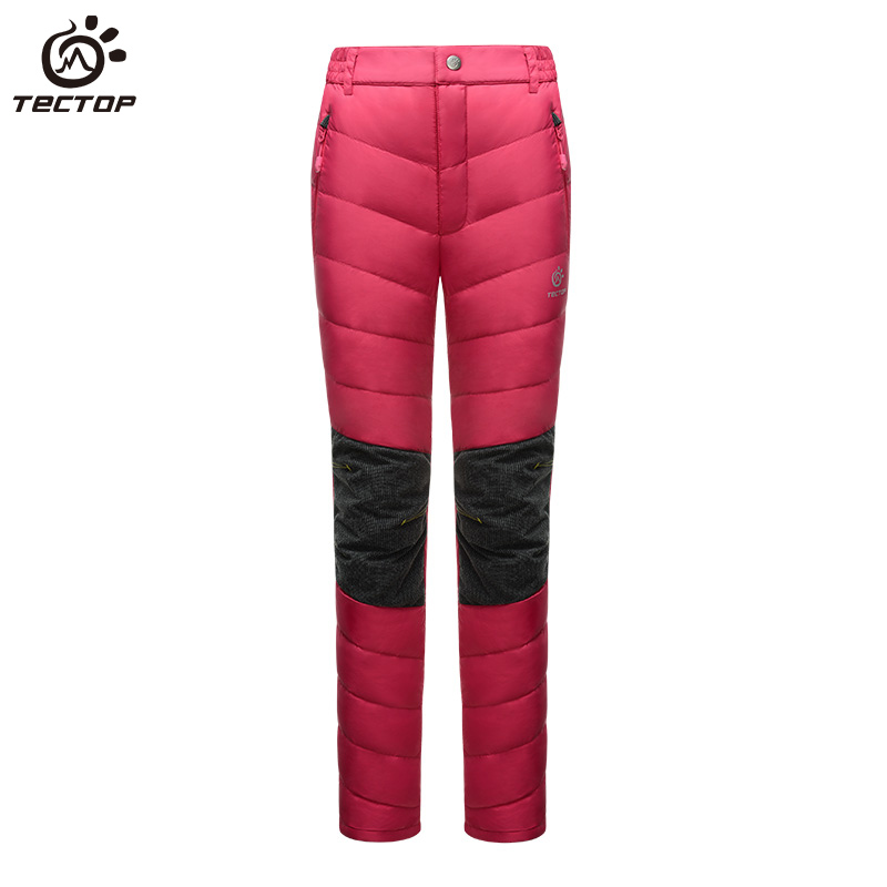 Winter Sport Waterproof Trousers For Hiking Climbing Skiing outdoor Thermal 80% white duck down pants for women