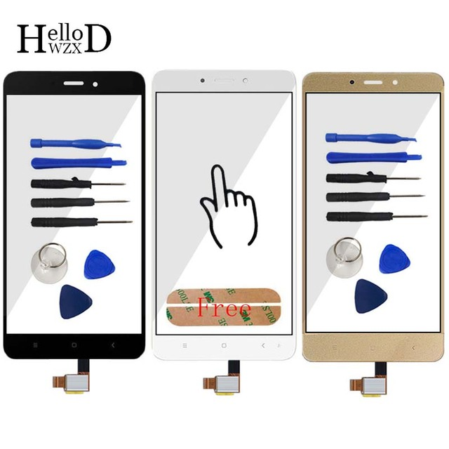 Touch Screen Glass Digitizer Panel For Xiaomi Hongmi Note 4 / Redmi Note 4 / Red Rice Note 4 Touch Front Glass Sensor Adhesive