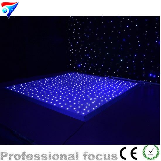 цена на 12ft*12ft Pary Led star Dance Floor White Led Color 110V-240V Star Shining Stage Effect Lights DJ Lights