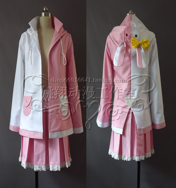 Japanese descent Hot Anime Danganronpa 2 cosplay Monomi cos Halloween party pink White Rabbit Personification sweet girl costume