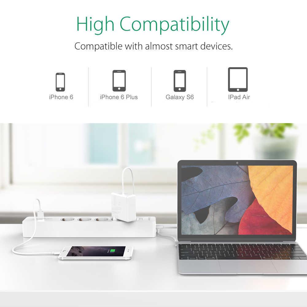 ORICO inteligentna listwa zasilająca gniazda ue UK wtyczka 5V2. 4A zabezpieczenie przed przeciążeniem przełącznik ochrony przeciwprzepięciowej ładowarka 4 AC 4 porty USB 1.8M сетевой фильтр