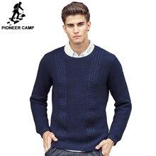 Pioneer camp famosa marca de qualidade superior 2016 de moda de nova homens suéteres e pulôveres criss cross-tricô camisola dos homens 3xl 611226(China (Mainland))