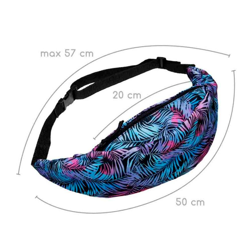 MOLAVE Waist Packs Fashion Sports Hiking Running Geometric Print Belt Waist Bag Pouch Zip Fanny Pack waist packs small AP16
