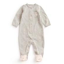 Цельная детская вещь в горошек для девочки 3-12 месяцев, кружевные комбинезоны, мультяшная нога для новорожденного, серый, синий, красный, комбинезоны для мальчиков, одежда для малышей