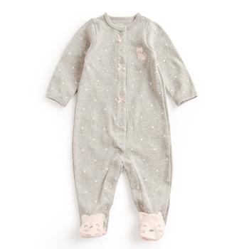 3-12 miesięcy jednoczęściowy Baby dziewczyna Dot i koronki pajacyki noworodka dla dzieci Cartoon stóp strój szary niebieski czerwone chłopcy pajacyki ubrania dla dzieci tanie i dobre opinie Footies COTTON Drukuj Unisex 7-9 miesięcy 0-3 miesięcy 4-6 miesięcy 10-12 miesięcy Baby romper Pasuje prawda na wymiar weź swój normalny rozmiar