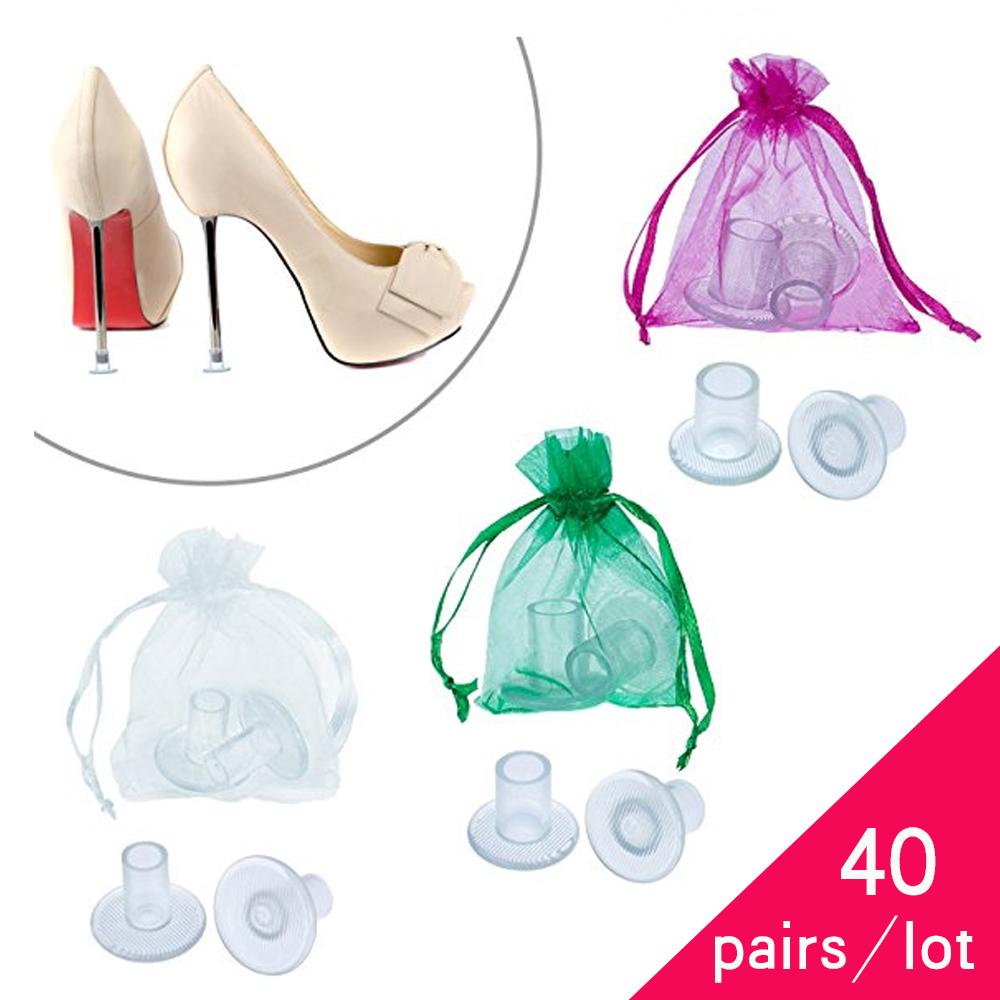 40 Pairs / Lot Heel Stopper High Heeler Antislip Silicone Heel Protectors Stiletto Dancing Covers For Bridal Wedding Party Favor