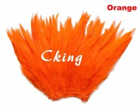 Free shipping 1kgs Orange color dyed rooster coque feather fringes 5 6inch in wdith saddle hackle feather strungs for cloth