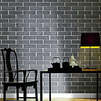 Wallpapers Youman Rustic Vintage 3D Faux Brick Roll Vinyl PVC Stone WallPaper For Restaurant Cafe Decor Yellow Red Black Grey