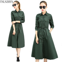 TNLNZHYN 2017 Korea Style Brand Spring Women Trench Coat Medium Long Women Coat New Fashion Elegant Women Trench Coats SK260