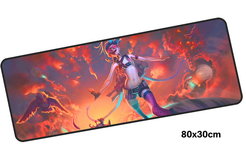 jinx mousepad gamer 800x300X3MM gaming mouse pad large cool new notebook pc accessories laptop padmouse ergonomic mat