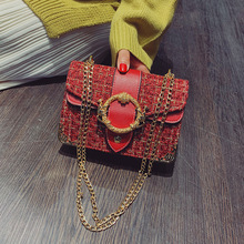 Small Bag Ladies 2019 Wild Messenger Bag Portable Personality Bag Simple Chain Casual Temperament Bag Summer Retro Fashion Bag sen department retro badge chain wild shoulder bag simple small square bag fashion casual messenger messenger bag tide