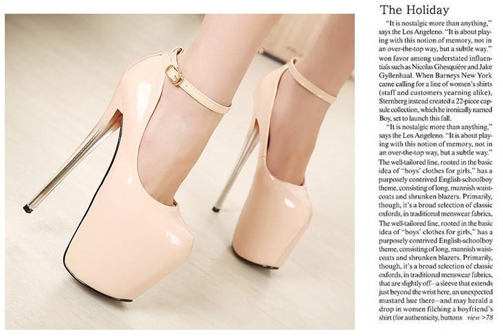женская туфли на высоком парень Seal ультра туфли на блок платформа тонкие кабель одной туфли лакированная кожа кнопки женские туфли 18 см туфли на высоком парень