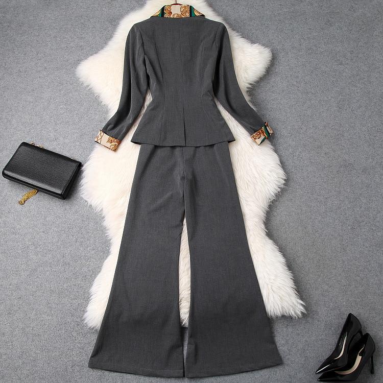 Style Mode Ws03180 Design Marque Européenne Luxe Piste De Femmes Vêtements Ensembles 2019 Partie p6wFvq