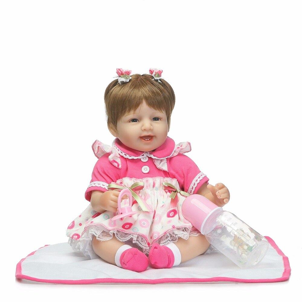 NPKCOLLECTION lifelike renascer bebê boneca macio real toque suave linda premie bebes reborn baby doll realista quente Presente de Natal